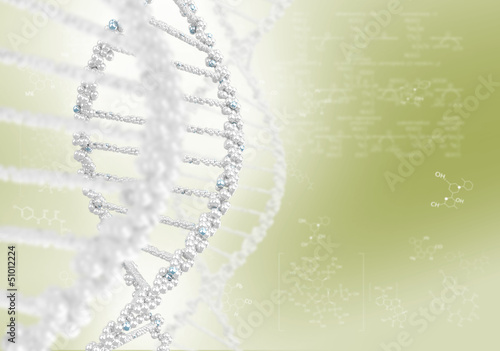 DNA helix against the colored background