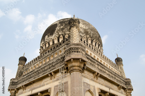Poster Dome Detail, Qutb Shahi Tombs