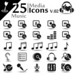 Media icons set, music basic series