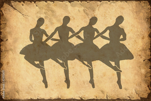 Papiers peints Affiche vintage Retroplakat - Ballett