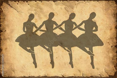 Staande foto Vintage Poster Retroplakat - Ballett