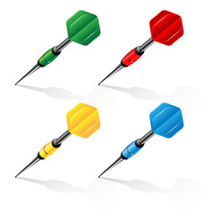 set of darts of different color
