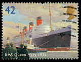 Britain RMS Queen Mary Liner Postage Stamp