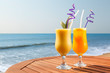 pineapple, mango and passion fruit juice