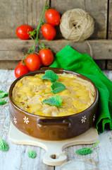 .Lasagna with pumpkin and cheese