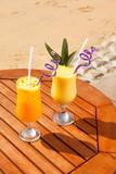 pineapple, mango and passion fruit juice