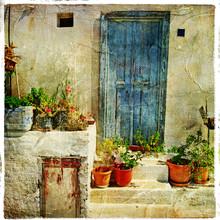 Grecki, ulice, artystyczny obraz