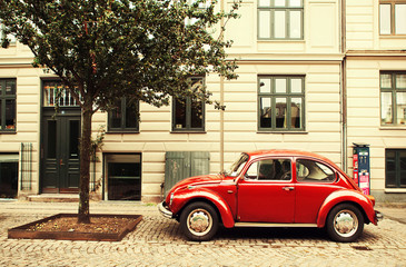 The red car in Copenhagen.