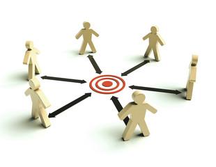Teamwork with target