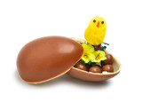 Easter chocolate egg and a chicken