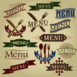 Vintage Styled MENU Calligraphic Designs