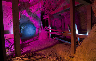 Colorful Mine Shaft