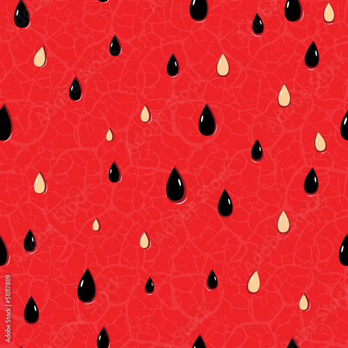 Sticker Seamless watermelon pattern