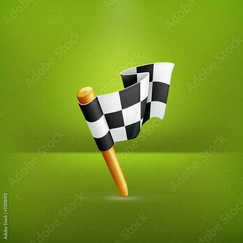 Checkered flag, icon
