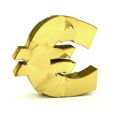 Broken euro symbol