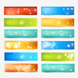 Set of Color Banner. Vector Web Design Elements