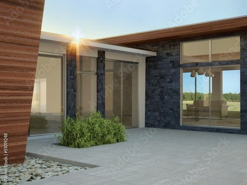 Modern Architecture, Entrance Hall in Morning Light