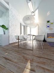 Modern, extravagant Dining Room, penthouse