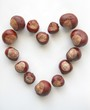 Chestnuts heart-shaped