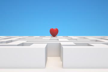 Maze to a heart