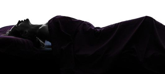 woman masturbating in bed silhouette