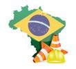 brazil under construction concept
