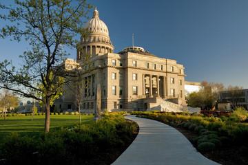 Capital building and sidewalk