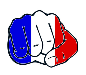 France fist nation fight