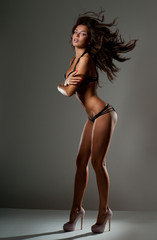beautiful woman with a perfect figure