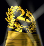 twentyfive number laurel wreath