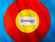 Target on strategy concept
