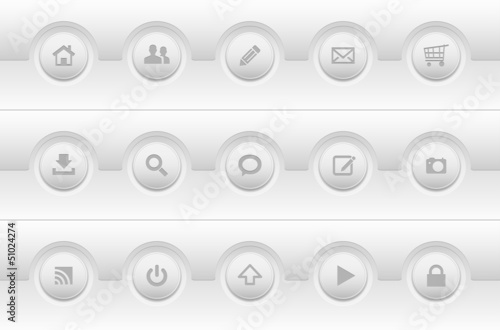 Set of modern simple web icons