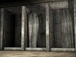 Stare brudne kabiny prysznicowe