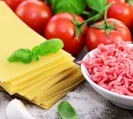 Lasagne, Zutaten