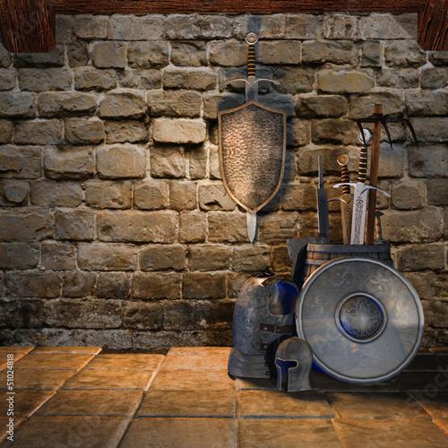 Średniowieczna broń i zbroja