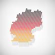 stylische Deutschland-Karte