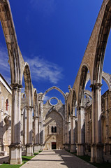 Ruine des Klosters Convento do Carmo (Lissabon, Portugal)