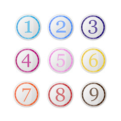 Vector set of icons with numbers