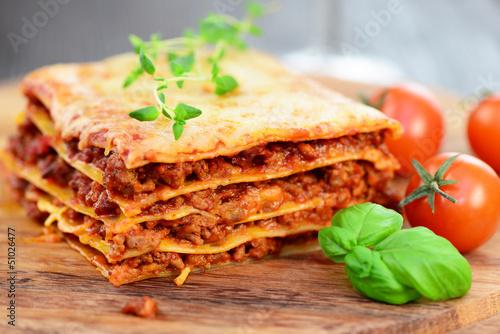 Leinwanddruck Bild Lasagne