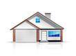 Clean and glossy detailed house icon