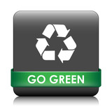 GO GREEN Button (recycle ecology energy sustainable development) poster