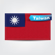 Fabric texture of the flag of Taiwan