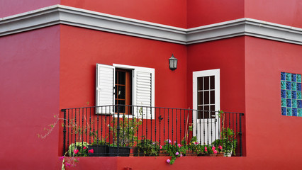 Mediterranean house exterior, traditional architecture