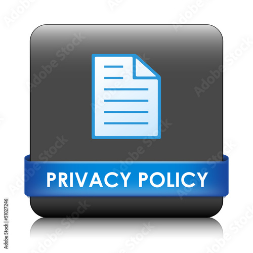 """PRIVACY POLICY"" Web Button (disclaimers terms and conditions)"
