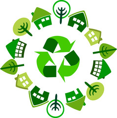 recycle circle of houses