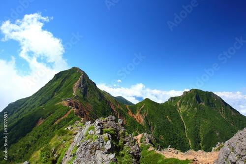 Mt. Yatsugatake in summer, Nagano, Japan