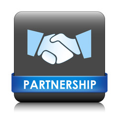 """PARTNERSHIP"" Web Button (contract team business deal commerce)"