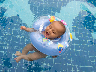 baby in pool 4