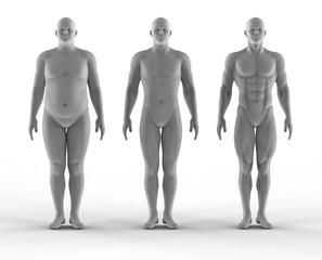 Set of portrait bodybuilder
