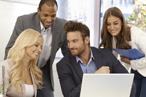 Portrait of happy businessteam